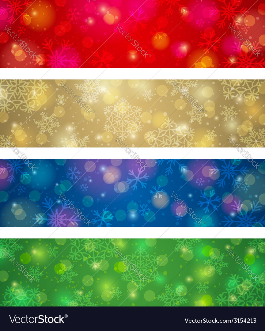 Brightness color christmas banners vector | Price: 1 Credit (USD $1)