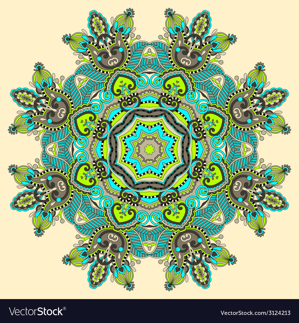 Circular decorative geometric pattern for yoga vector | Price: 1 Credit (USD $1)