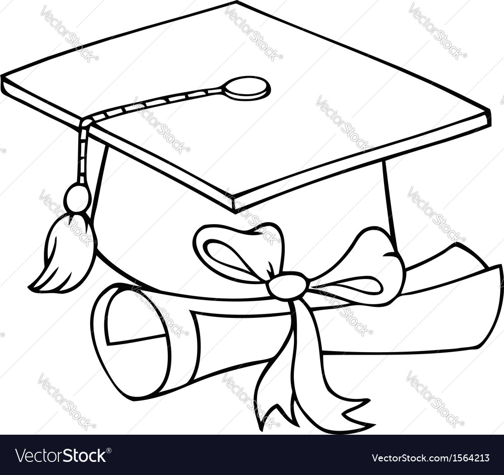 Graduation hat cartoon vector | Price: 1 Credit (USD $1)
