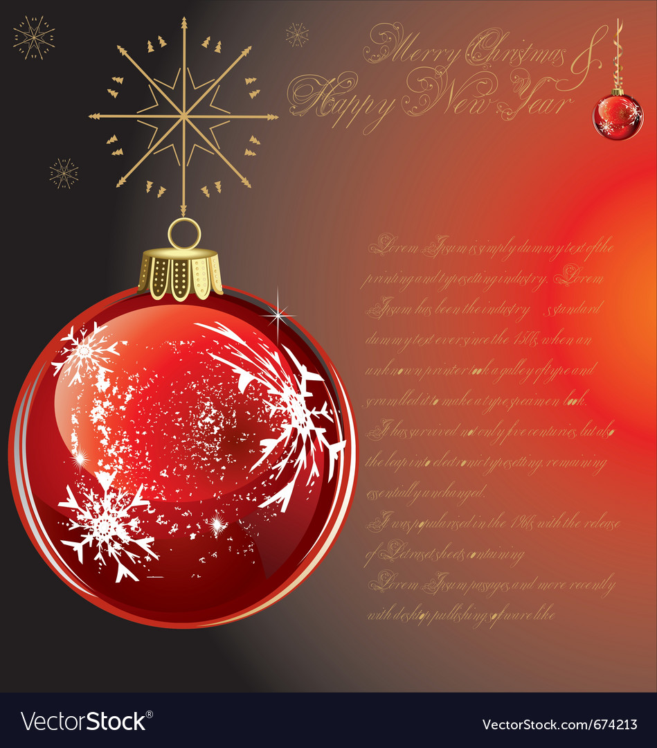 Merry-christmas-background vector | Price: 1 Credit (USD $1)