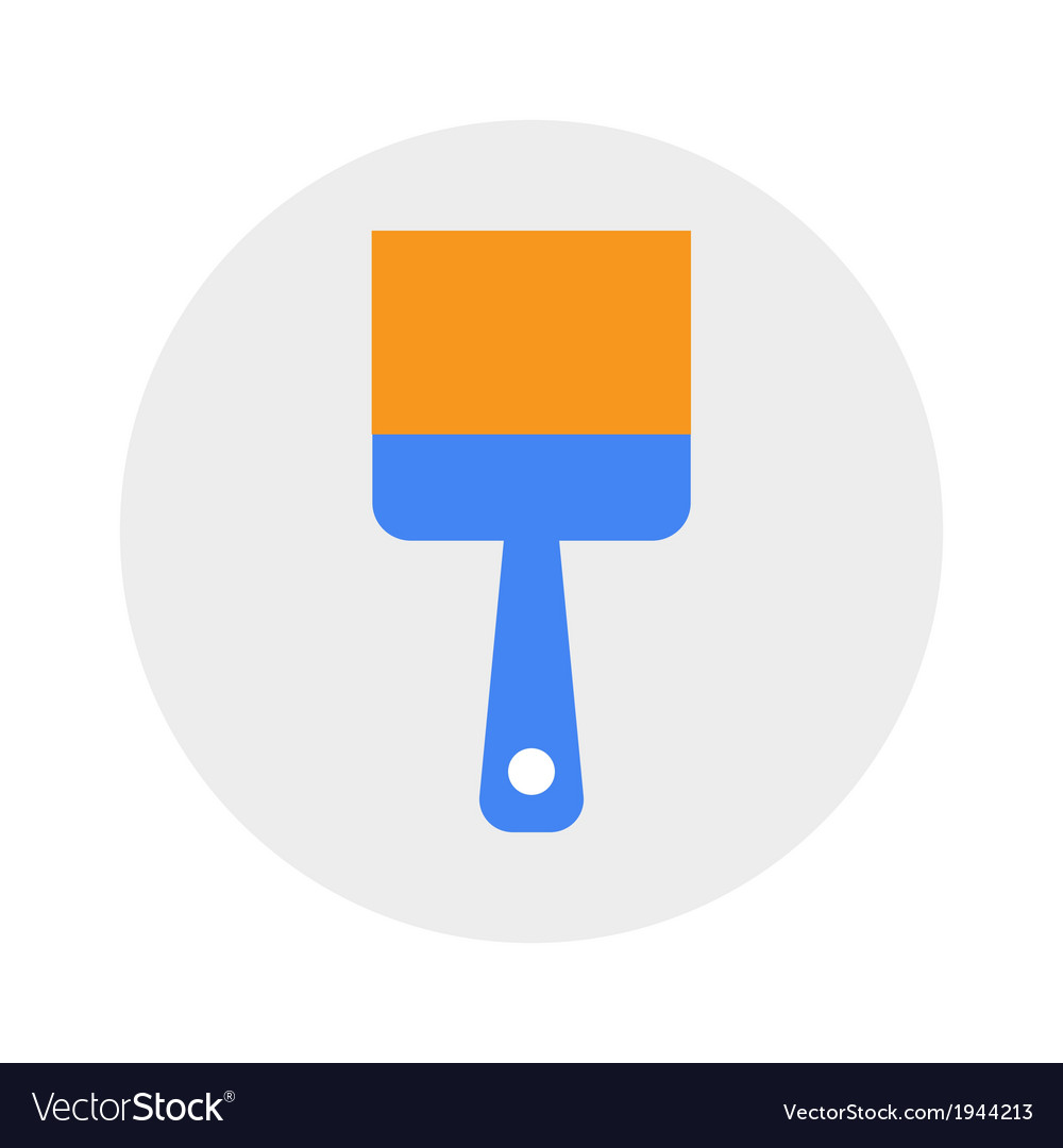 Paintbrush icon vector | Price: 1 Credit (USD $1)
