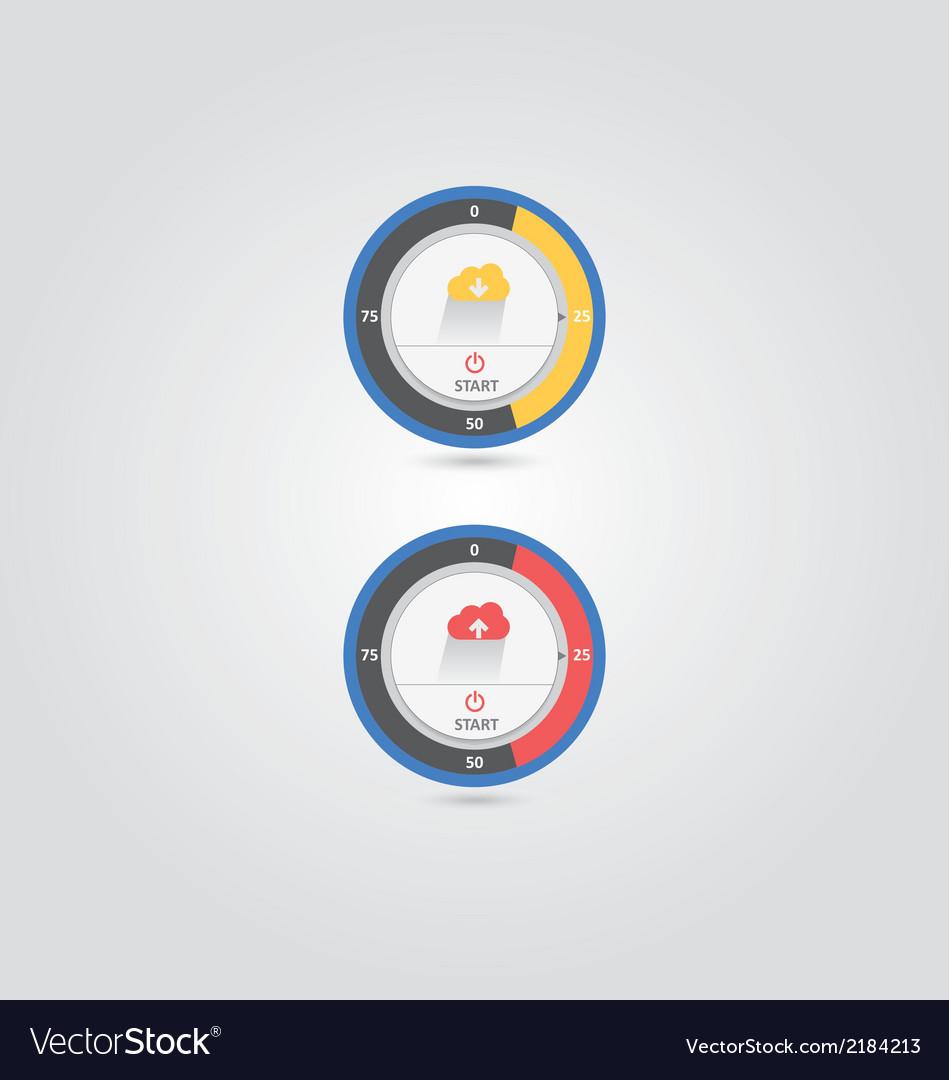 Round cloud download upload vector   Price: 1 Credit (USD $1)