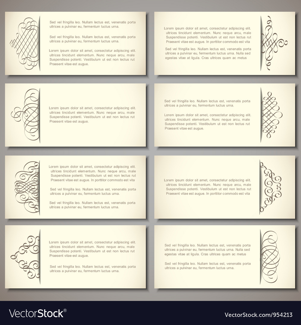 Set of paper banners vector | Price: 1 Credit (USD $1)