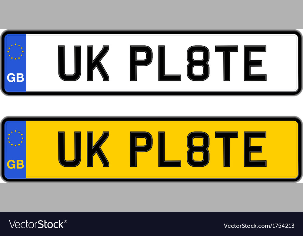 Uk number plate vector | Price: 1 Credit (USD $1)