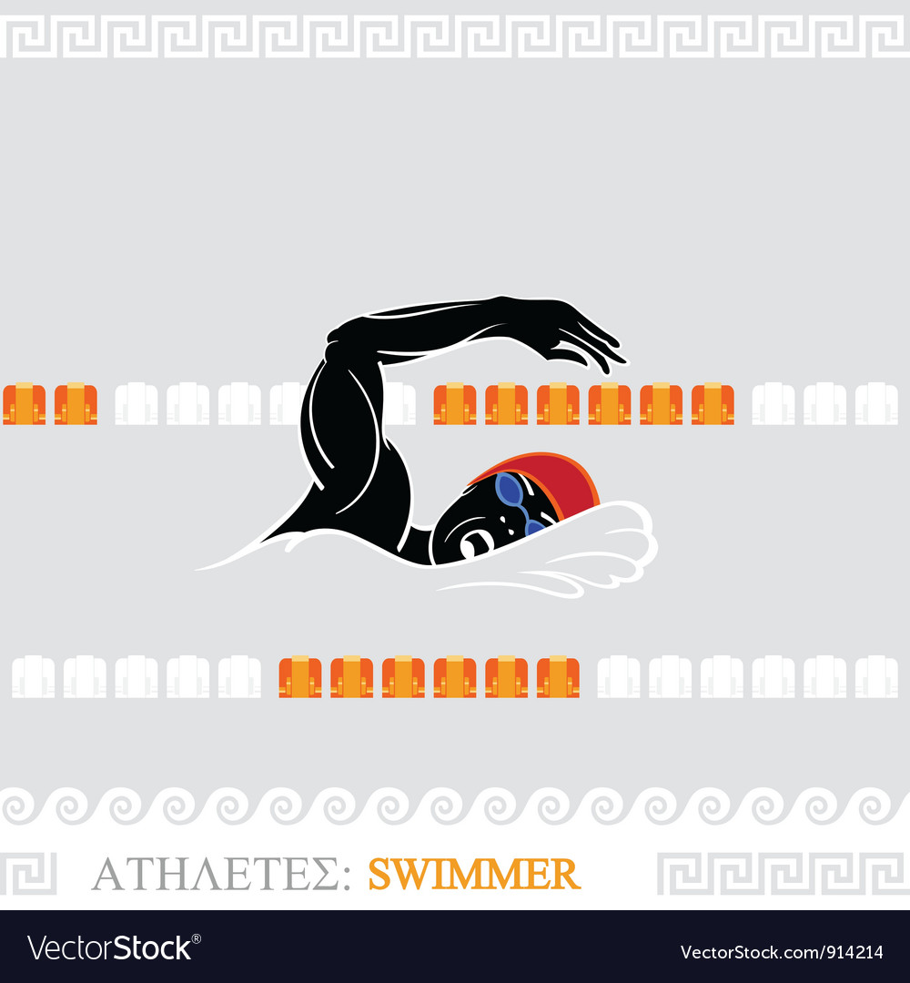 Athlete swimmer vector | Price: 3 Credit (USD $3)