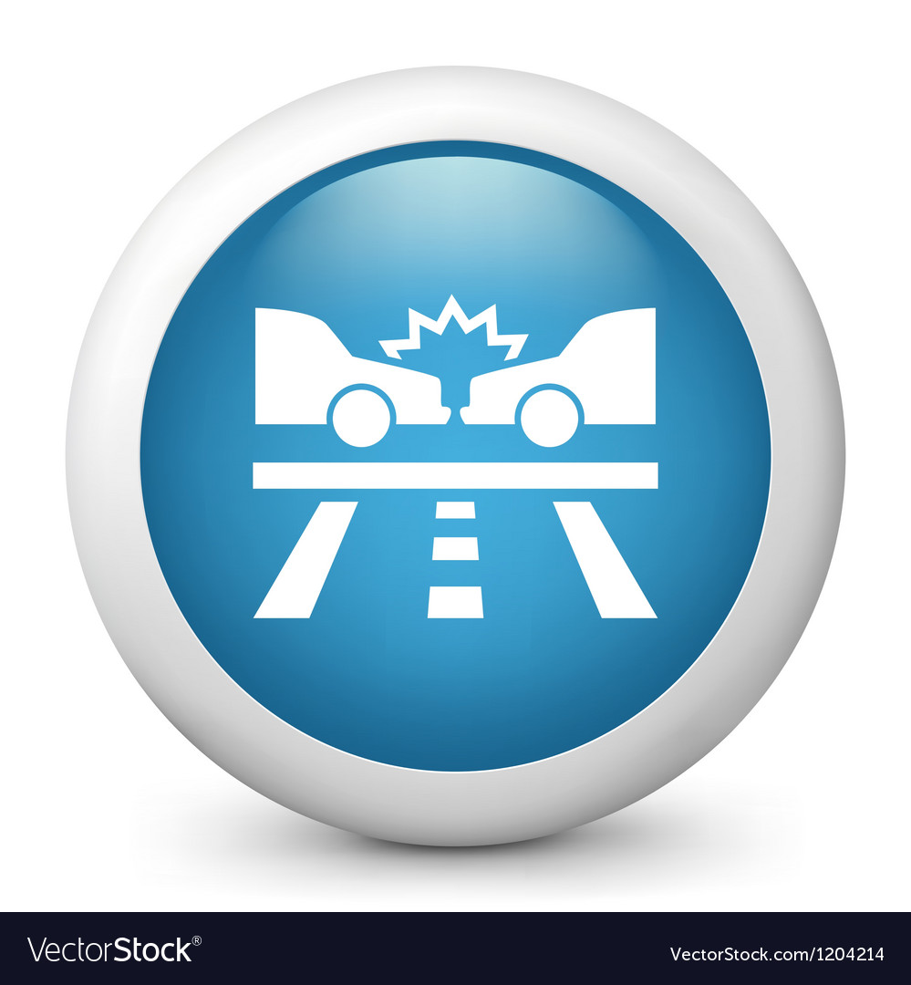 Car crash glossy icon vector | Price: 1 Credit (USD $1)