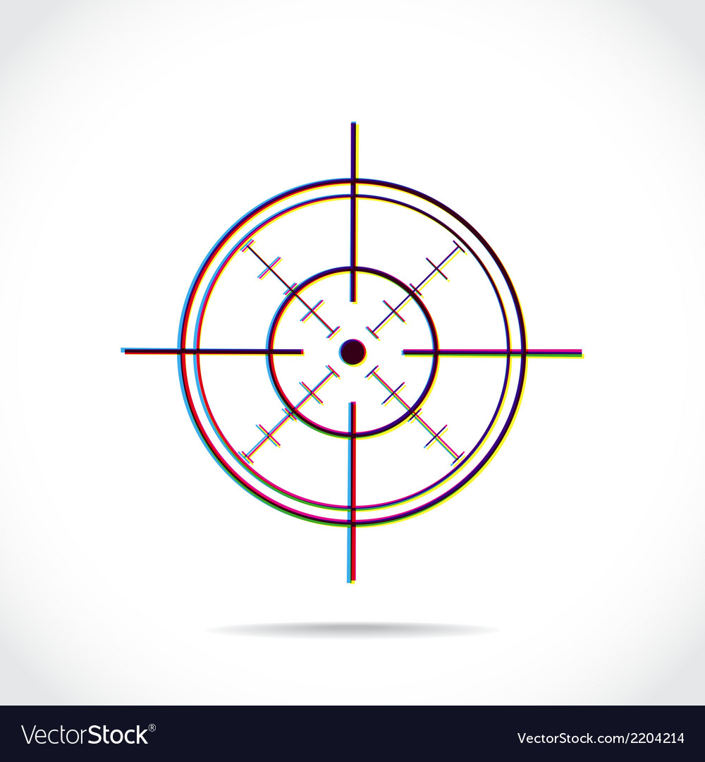 Crosshair symbol vector | Price: 1 Credit (USD $1)
