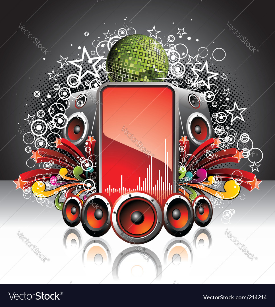 Dj music poster vector | Price: 1 Credit (USD $1)