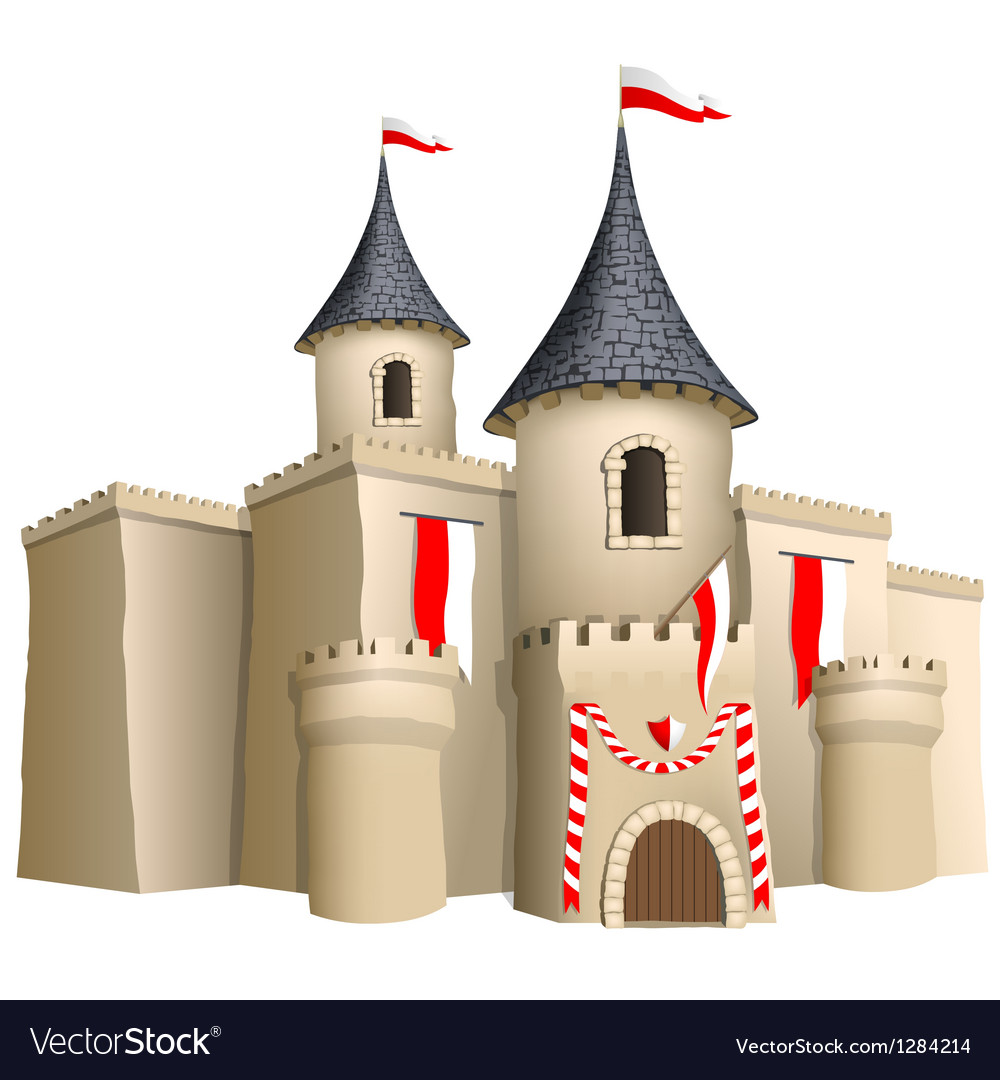 Fairy-tale castle vector | Price: 1 Credit (USD $1)