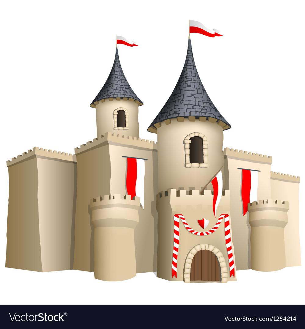 Fairy-tale castle vector | Price: 1 Credit (USD $1)