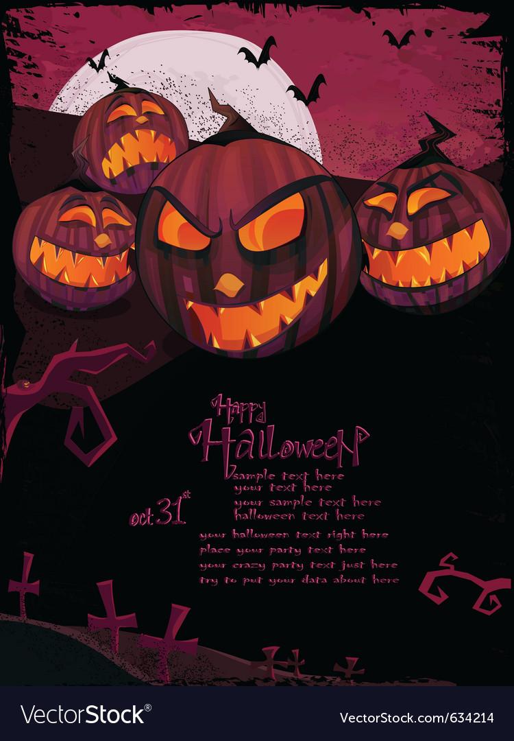 Halloween template vector | Price: 3 Credit (USD $3)