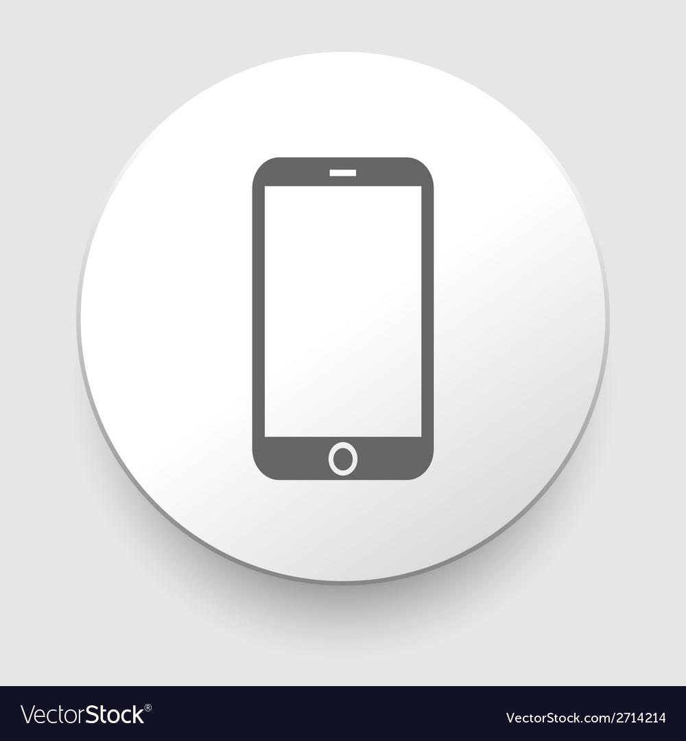 Mobile phone icon vector | Price: 1 Credit (USD $1)