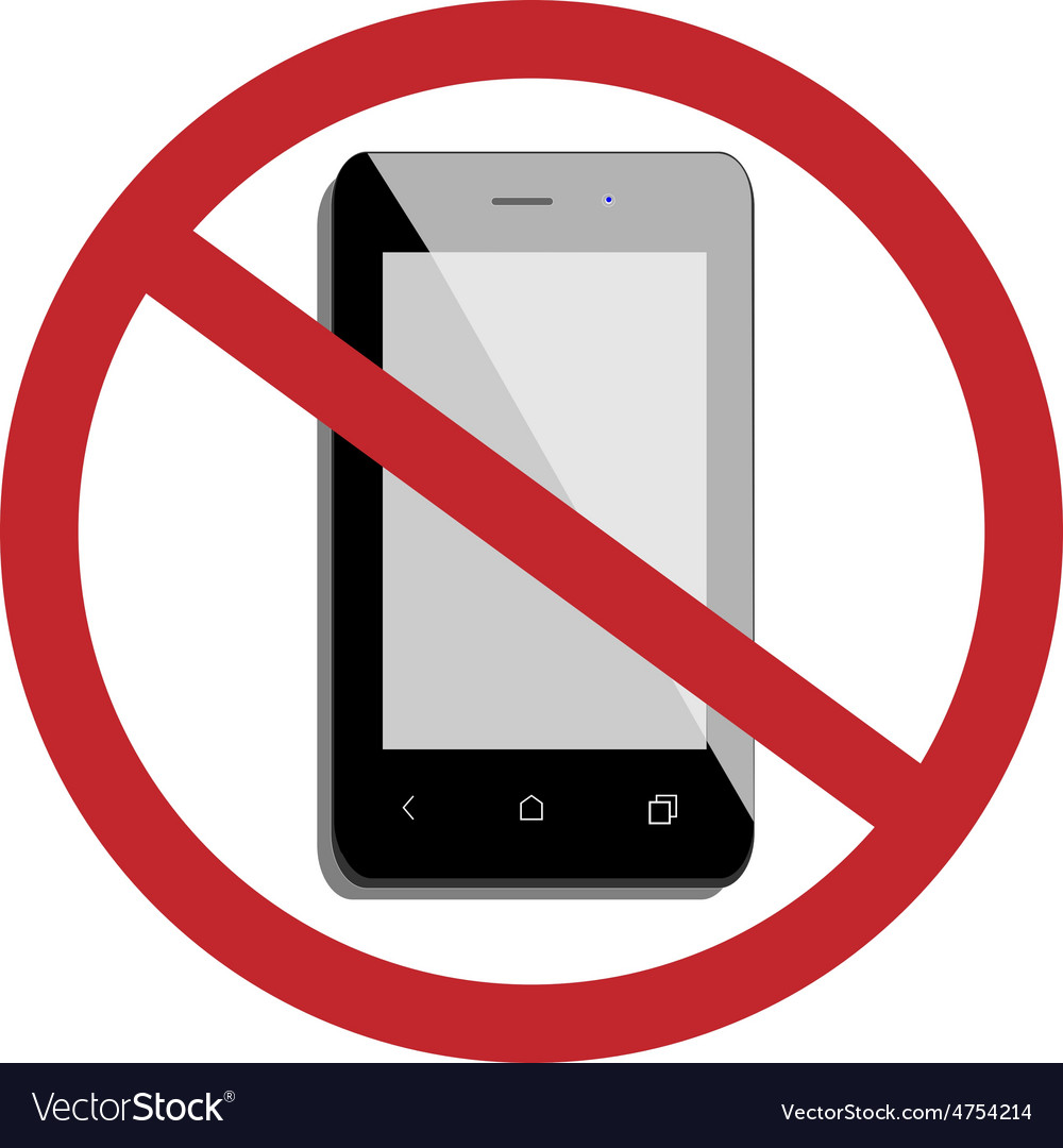 No mobile phone vector | Price: 1 Credit (USD $1)