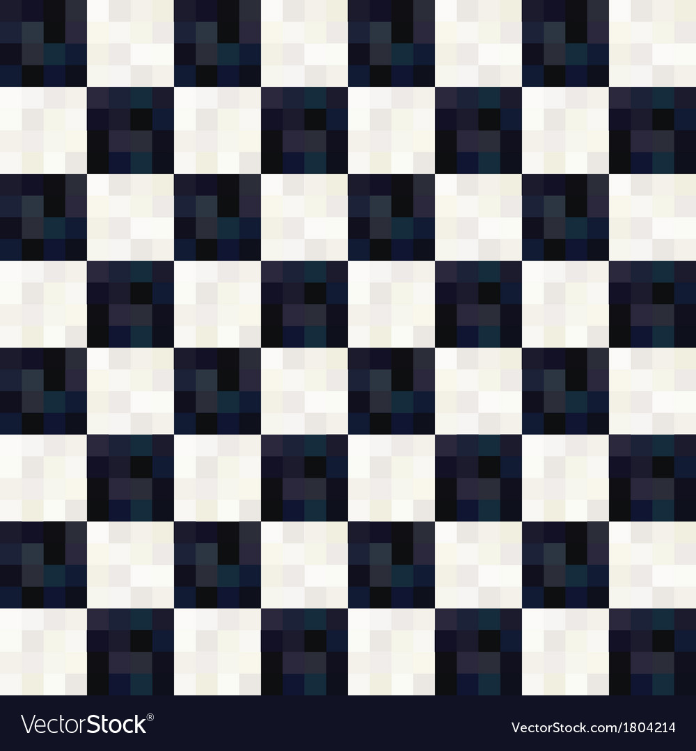Seamless black and white square pattern vector   Price: 1 Credit (USD $1)