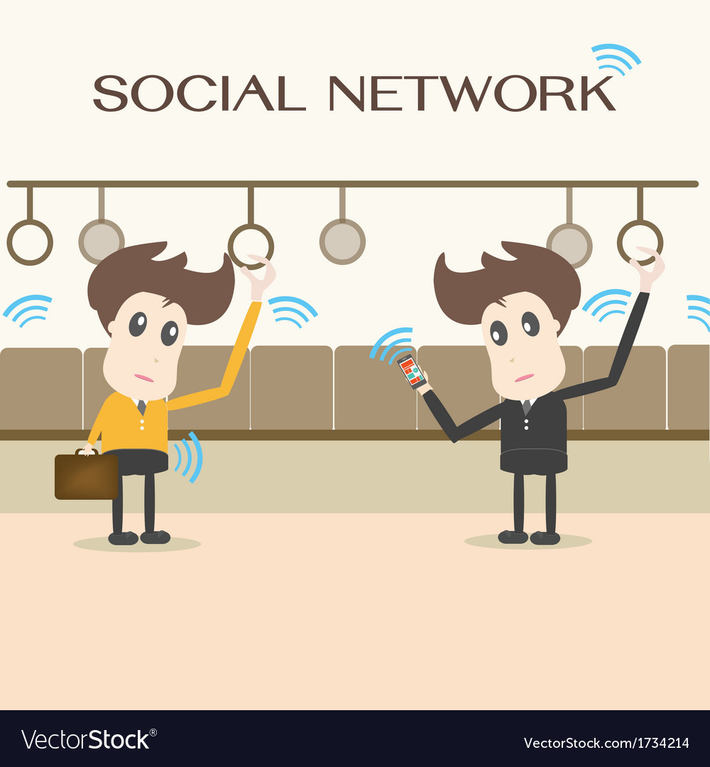 Social network businessman vector | Price: 1 Credit (USD $1)