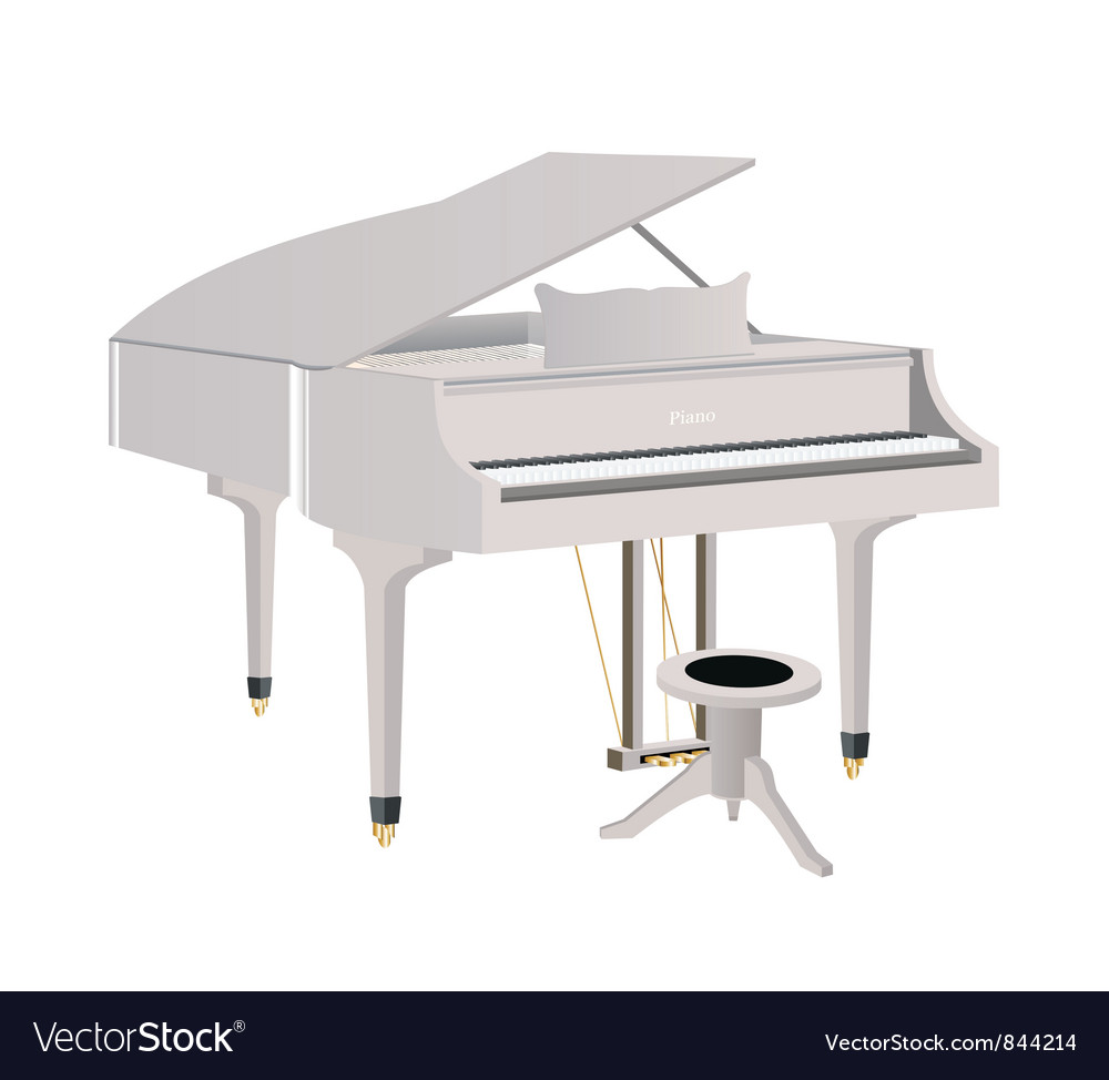 White piano vector | Price: 3 Credit (USD $3)