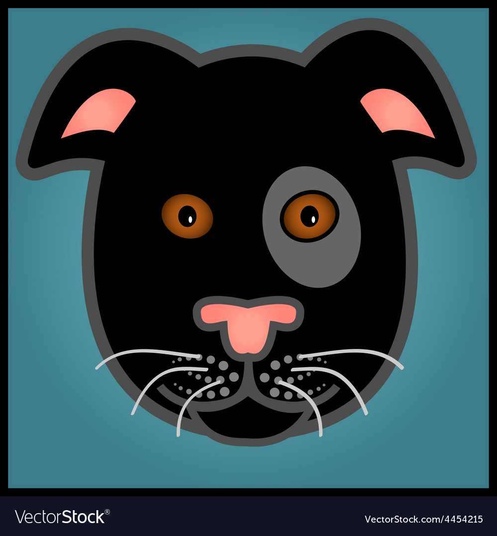 Cartoon black dog vector | Price: 1 Credit (USD $1)