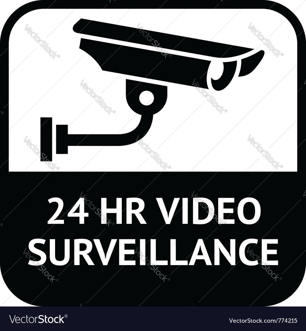 Cctv surveillance sign vector | Price: 1 Credit (USD $1)