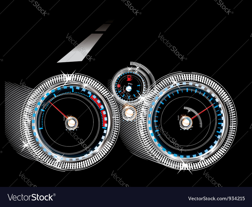 Dashboard car - tachometer speedometer and fuel vector | Price: 1 Credit (USD $1)