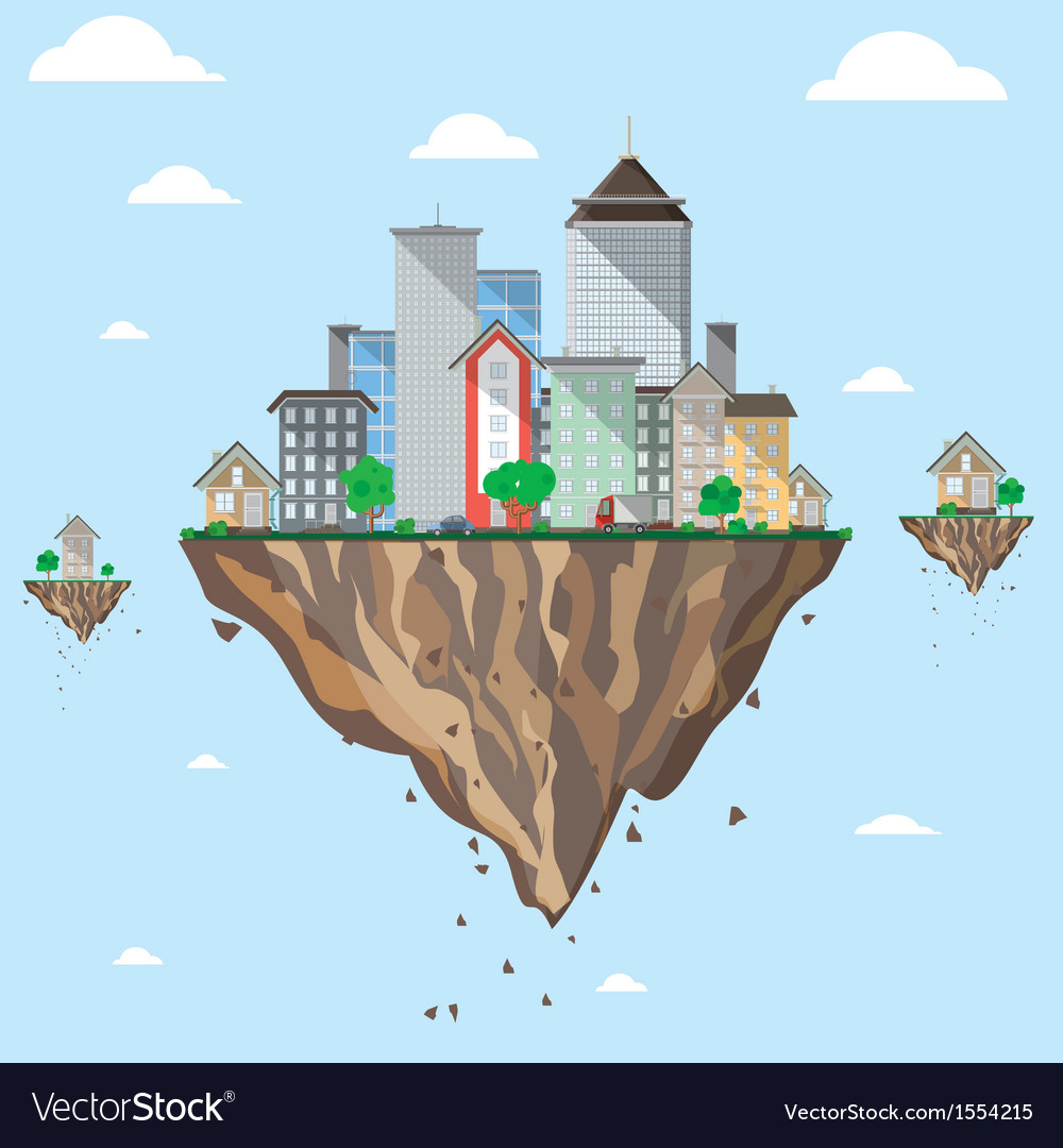 Fly city vector | Price: 1 Credit (USD $1)