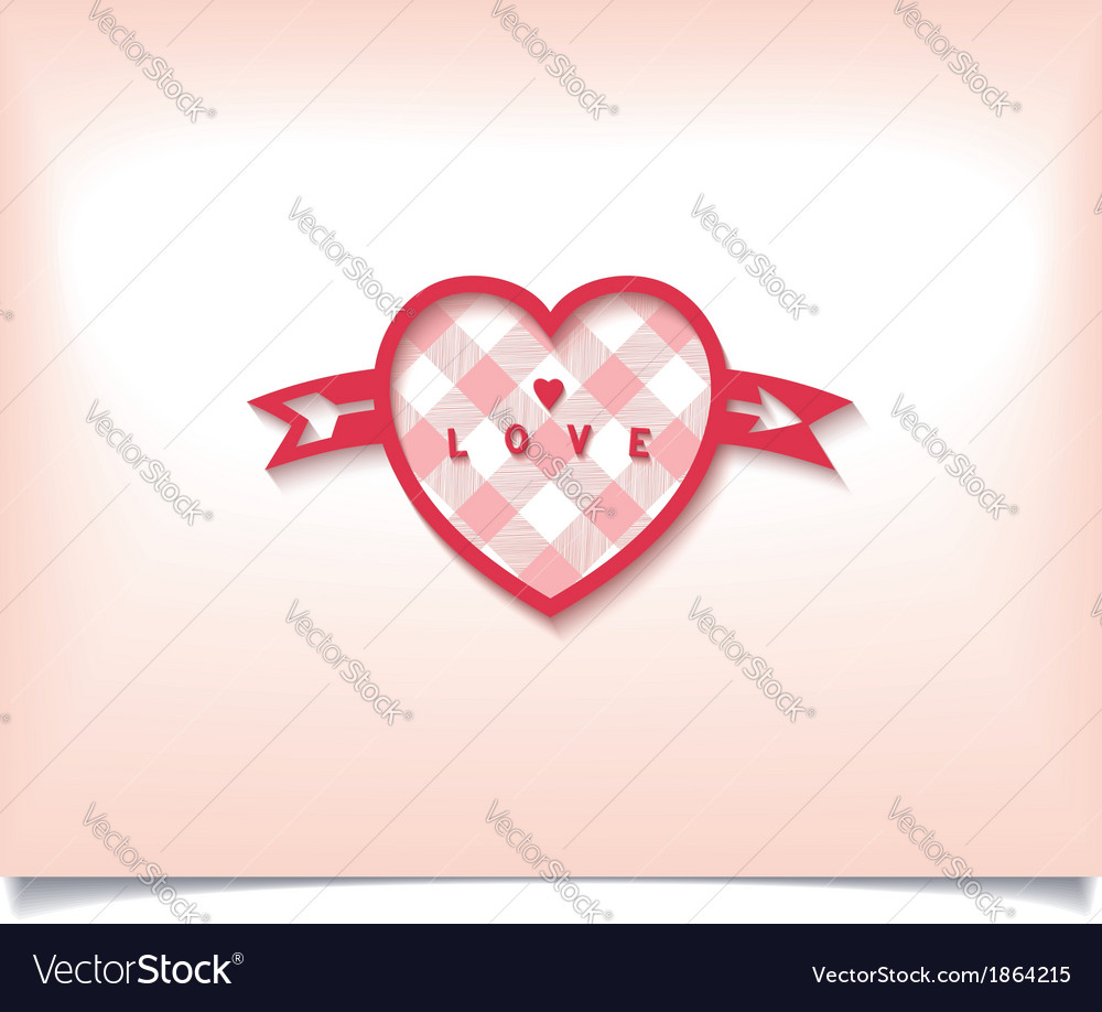 Heart with an arrow and check pattern vector | Price: 1 Credit (USD $1)