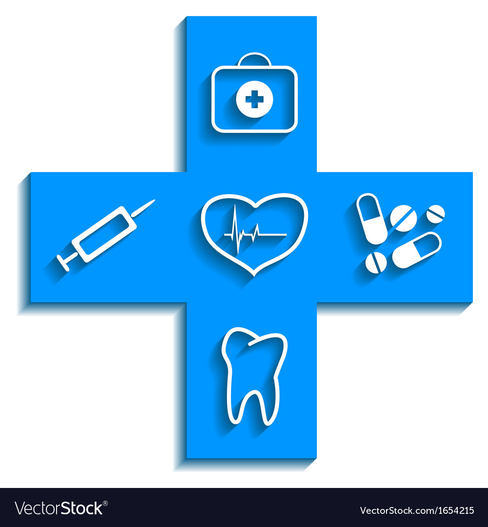 Medicine blue icon vector | Price: 1 Credit (USD $1)