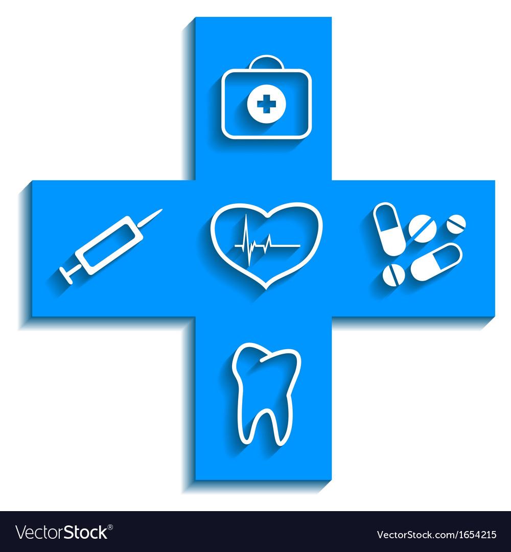 Medicine blue icon vector | Price: 1 Credit (USD $1)