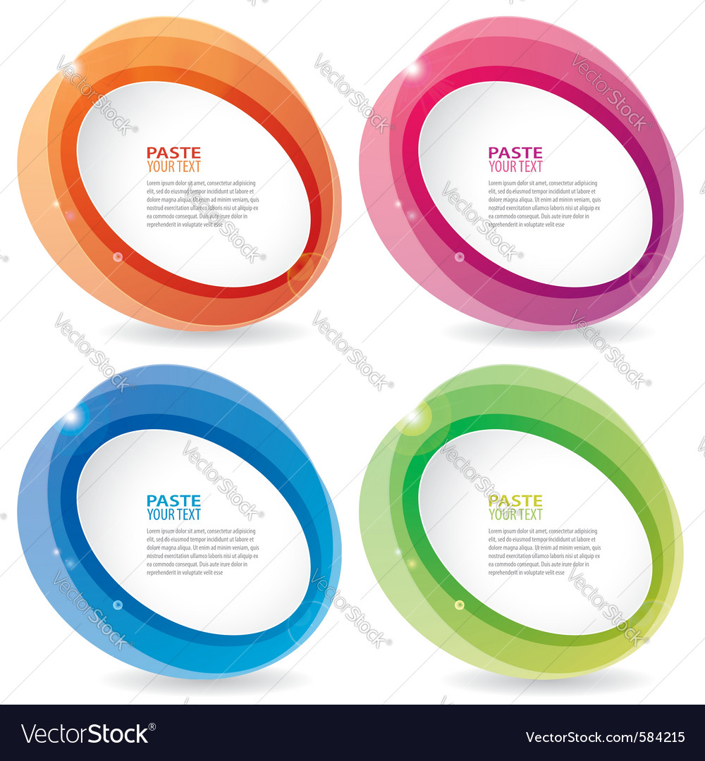 Oval boarder templates vector | Price: 1 Credit (USD $1)