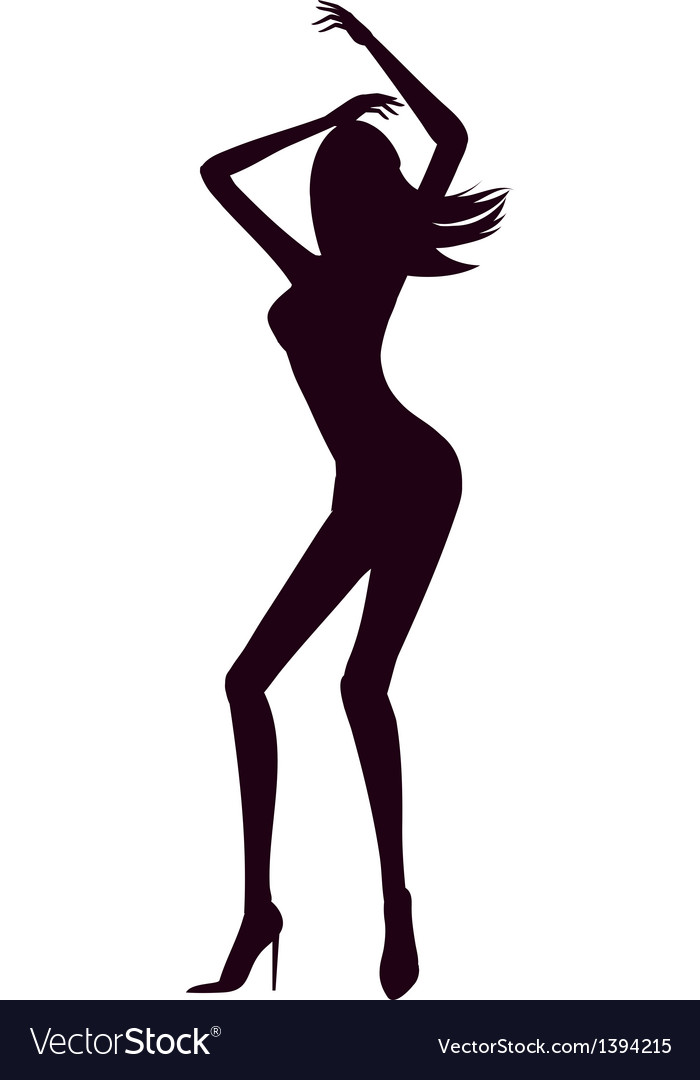 Silhouette of waman vector