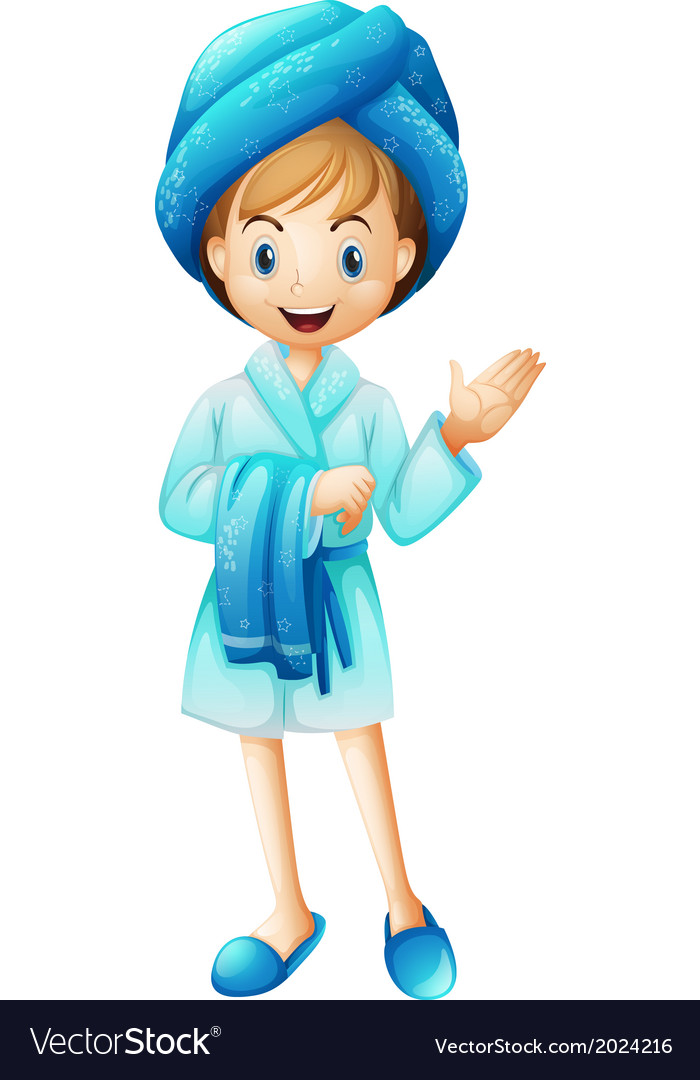 A fresh girl with her bathrobe vector   Price: 1 Credit (USD $1)