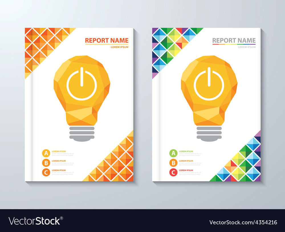 Cover annual report vector | Price: 1 Credit (USD $1)