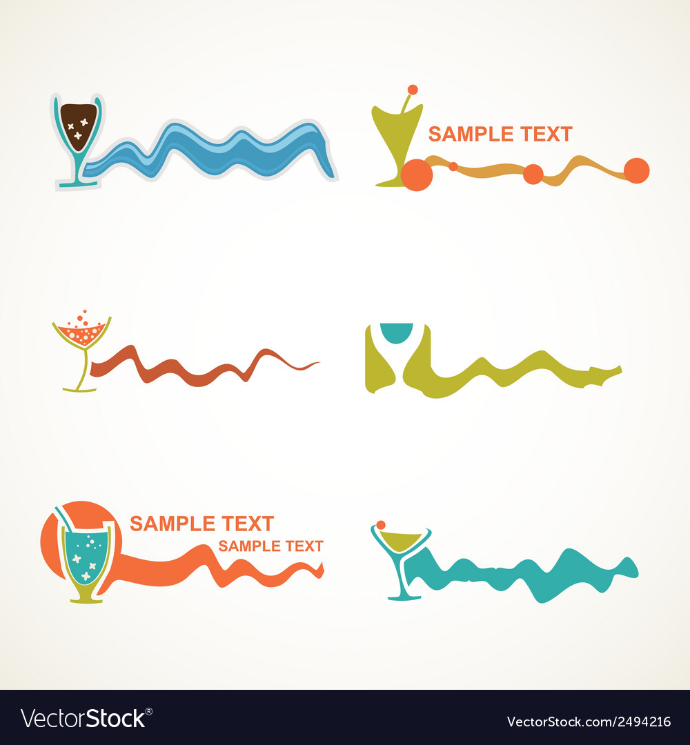 Drink design elements vector | Price: 1 Credit (USD $1)