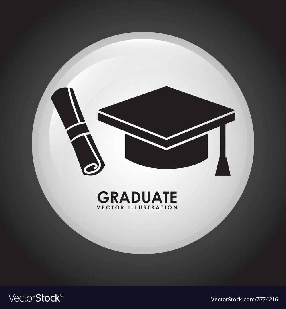Graduate icon vector | Price: 1 Credit (USD $1)