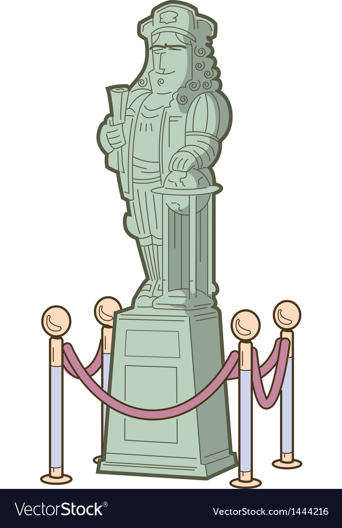 Historical figure statue vector | Price: 1 Credit (USD $1)