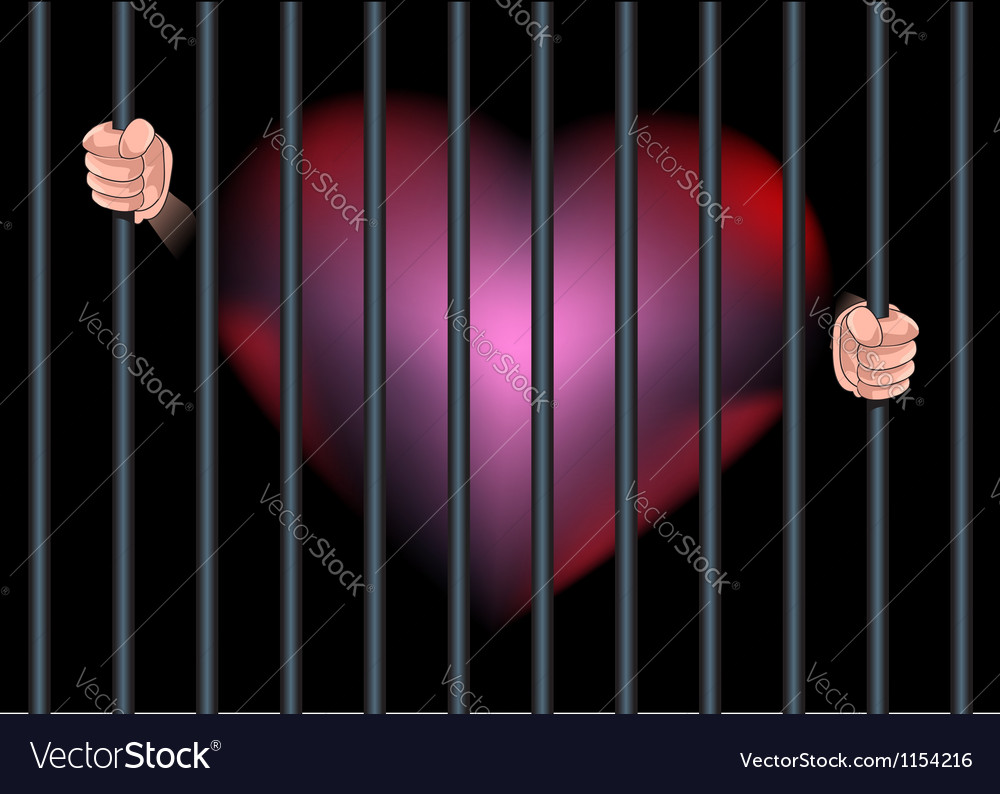 Imprison heart feel in love vector | Price: 1 Credit (USD $1)