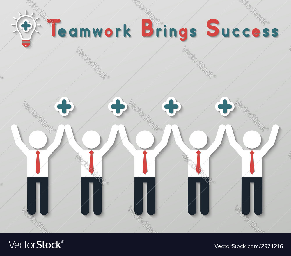 Positive thinking teamwork business concept vector   Price: 1 Credit (USD $1)