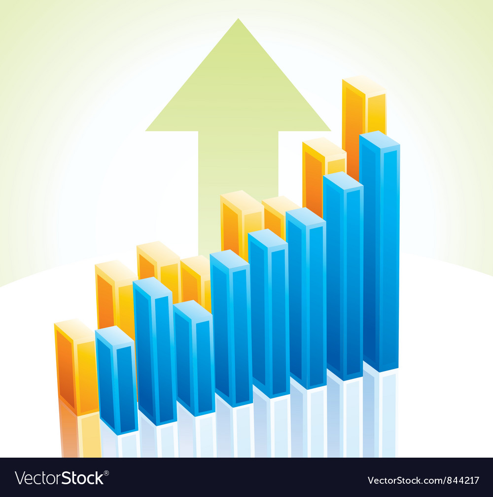 3d business graph vector | Price: 1 Credit (USD $1)
