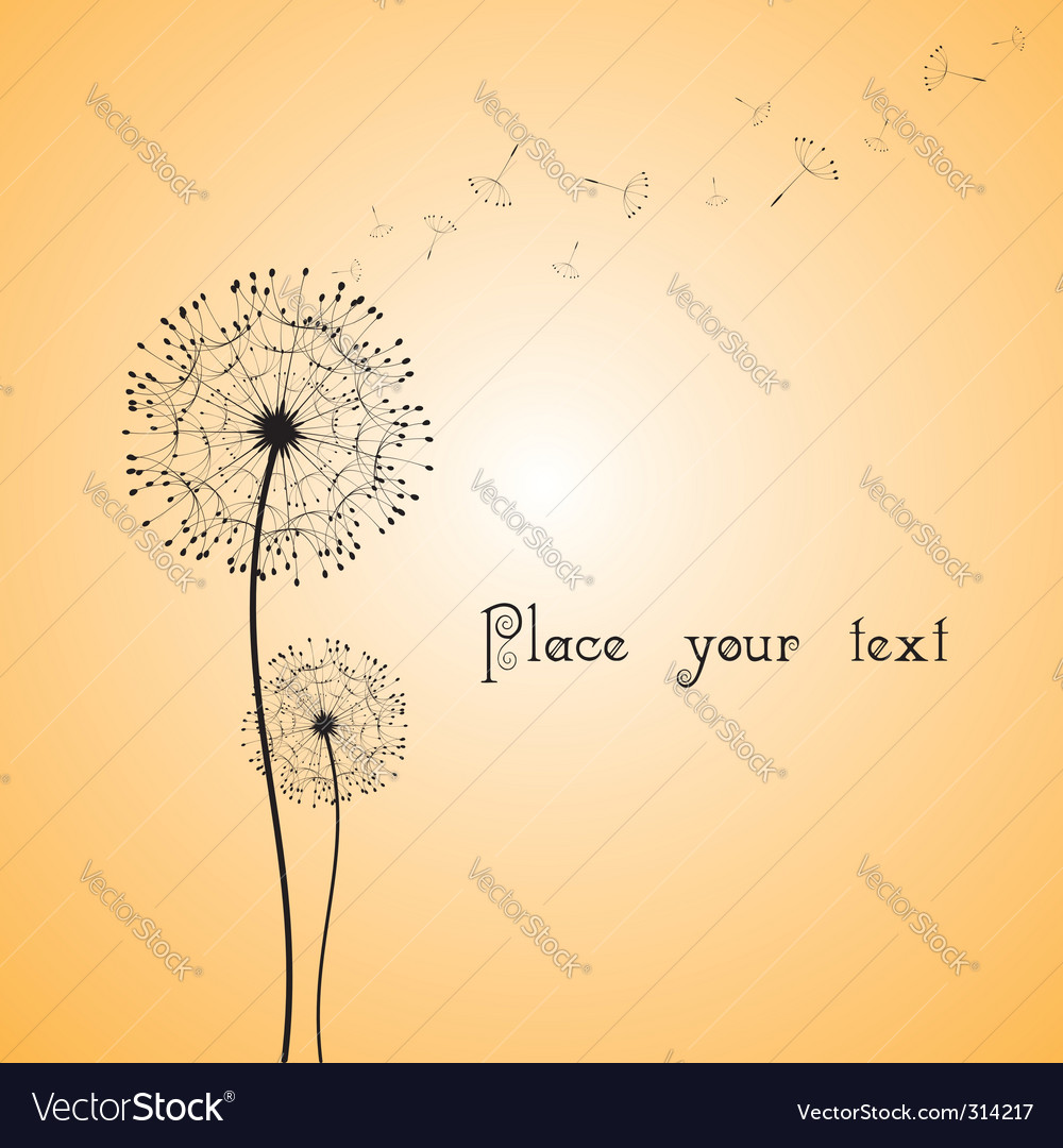 Abstract dandelion in the wind vector | Price: 1 Credit (USD $1)