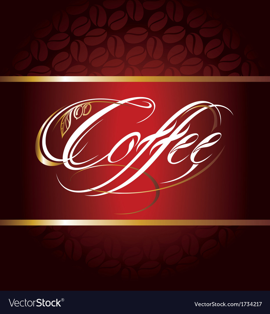Coffee calligraphic lettering vector | Price: 1 Credit (USD $1)