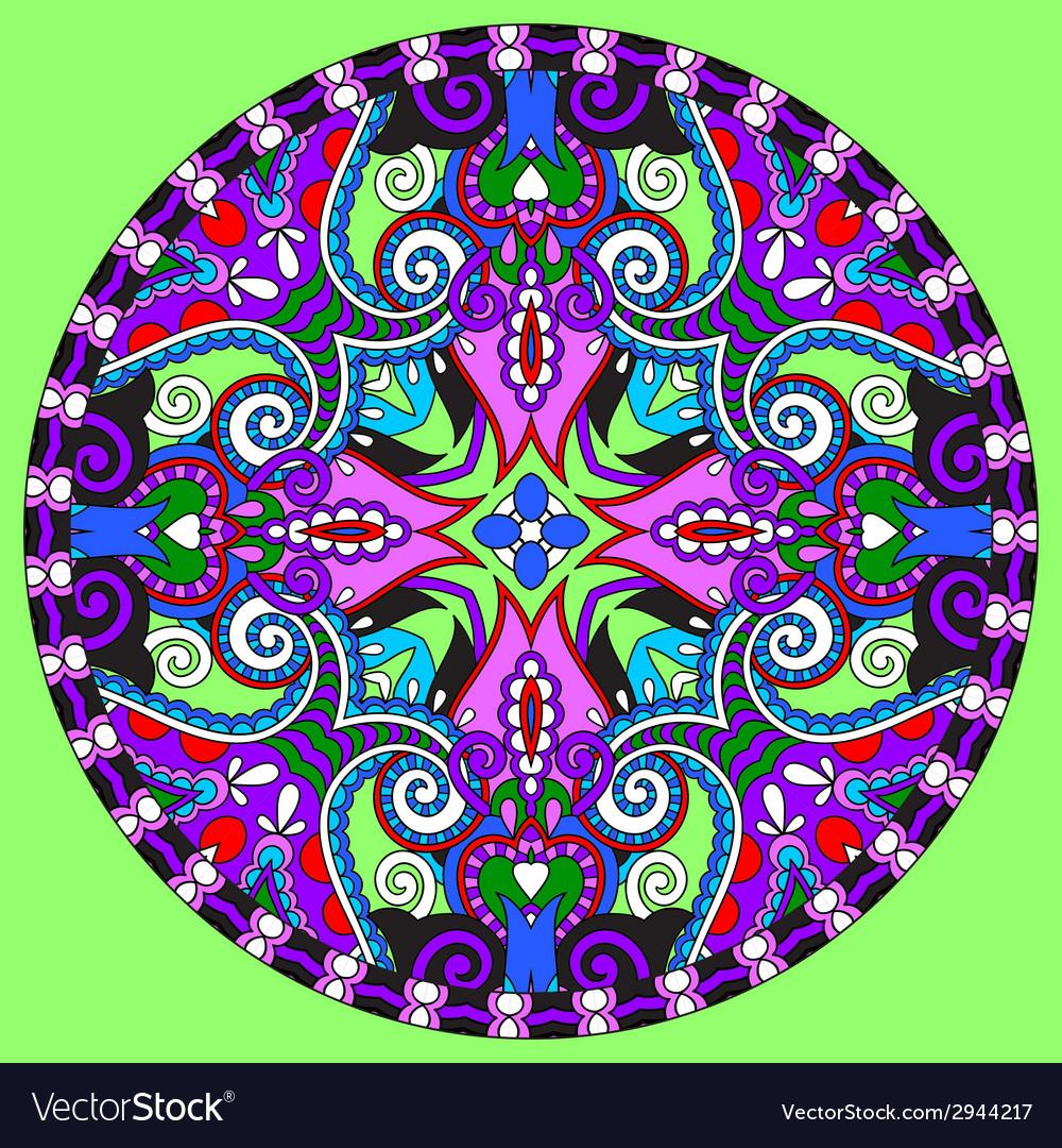 Decorative design of circle dish template round vector   Price: 1 Credit (USD $1)
