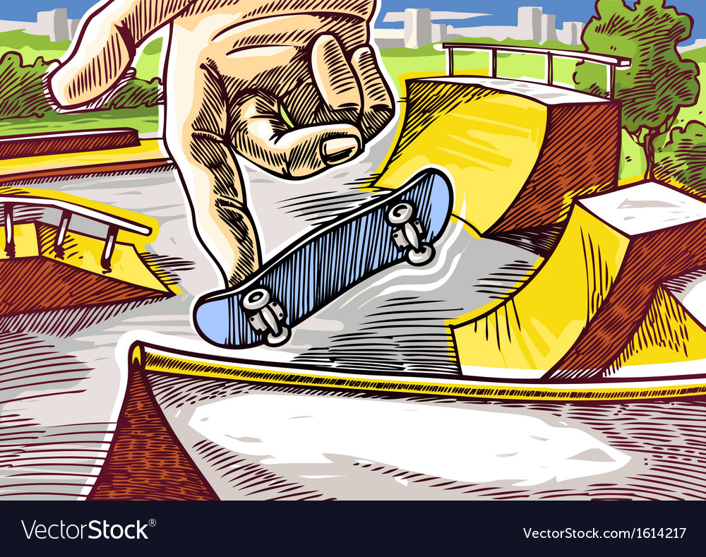 Fingerboarding vector | Price: 3 Credit (USD $3)