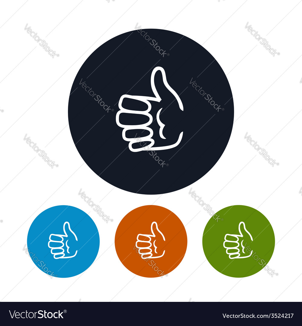Icon hand giving thumbs up vector | Price: 1 Credit (USD $1)