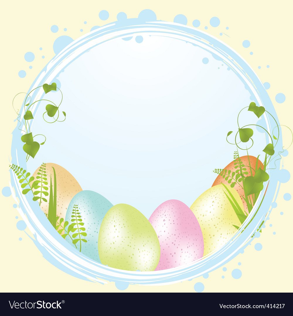 Speckled easter eggs and border vector | Price: 1 Credit (USD $1)