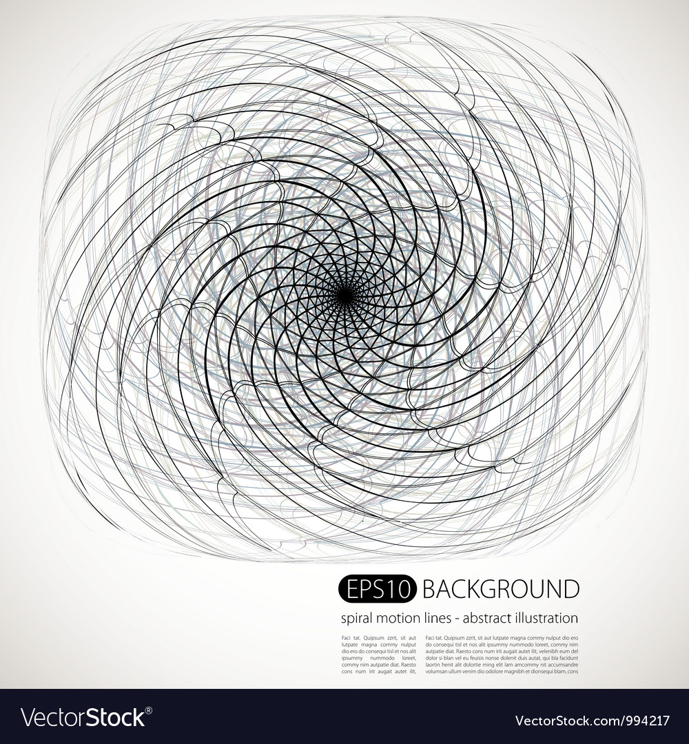Spiral motion shapes vector | Price: 1 Credit (USD $1)