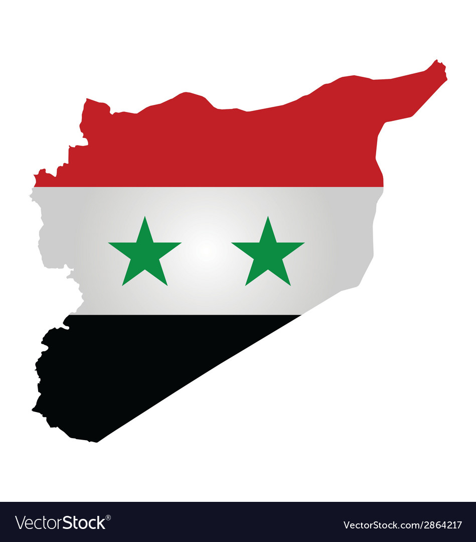 Syrian flag vector | Price: 1 Credit (USD $1)