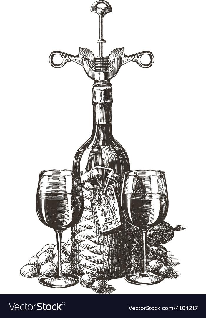 Wine logo design template grape or glass vector | Price: 3 Credit (USD $3)