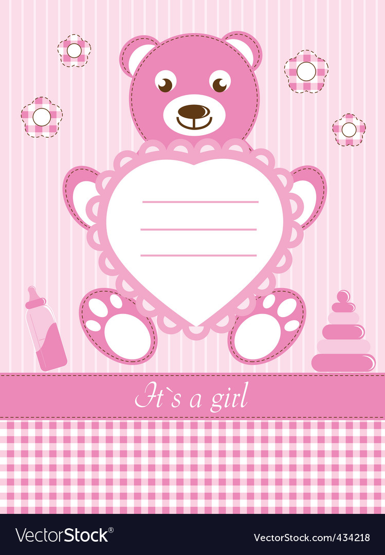 Baby girl shower invitation ca vector   Price: 1 Credit (USD $1)