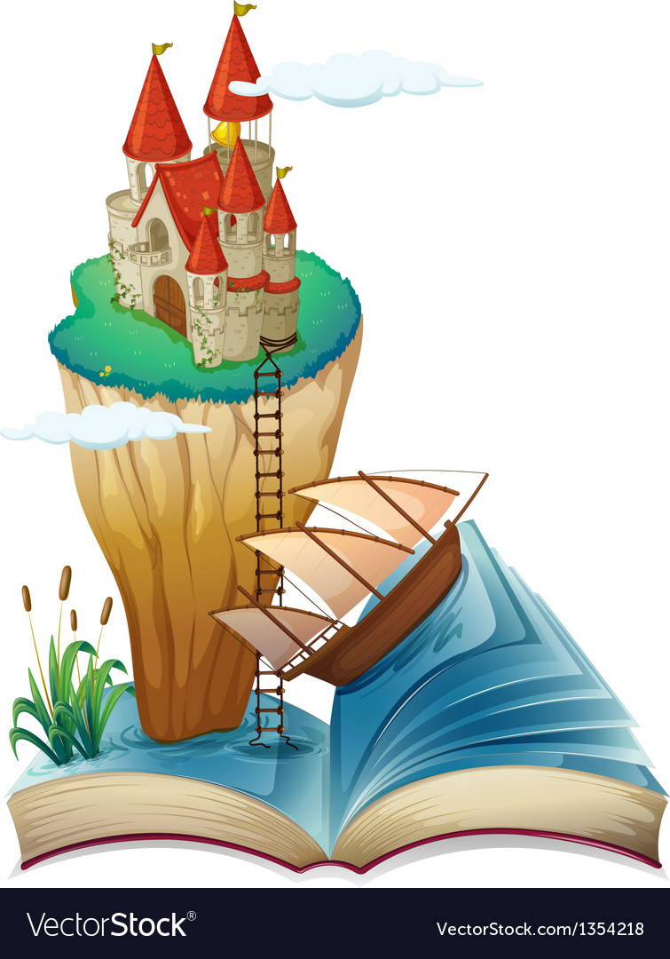 Castle fantasy story book vector | Price: 1 Credit (USD $1)