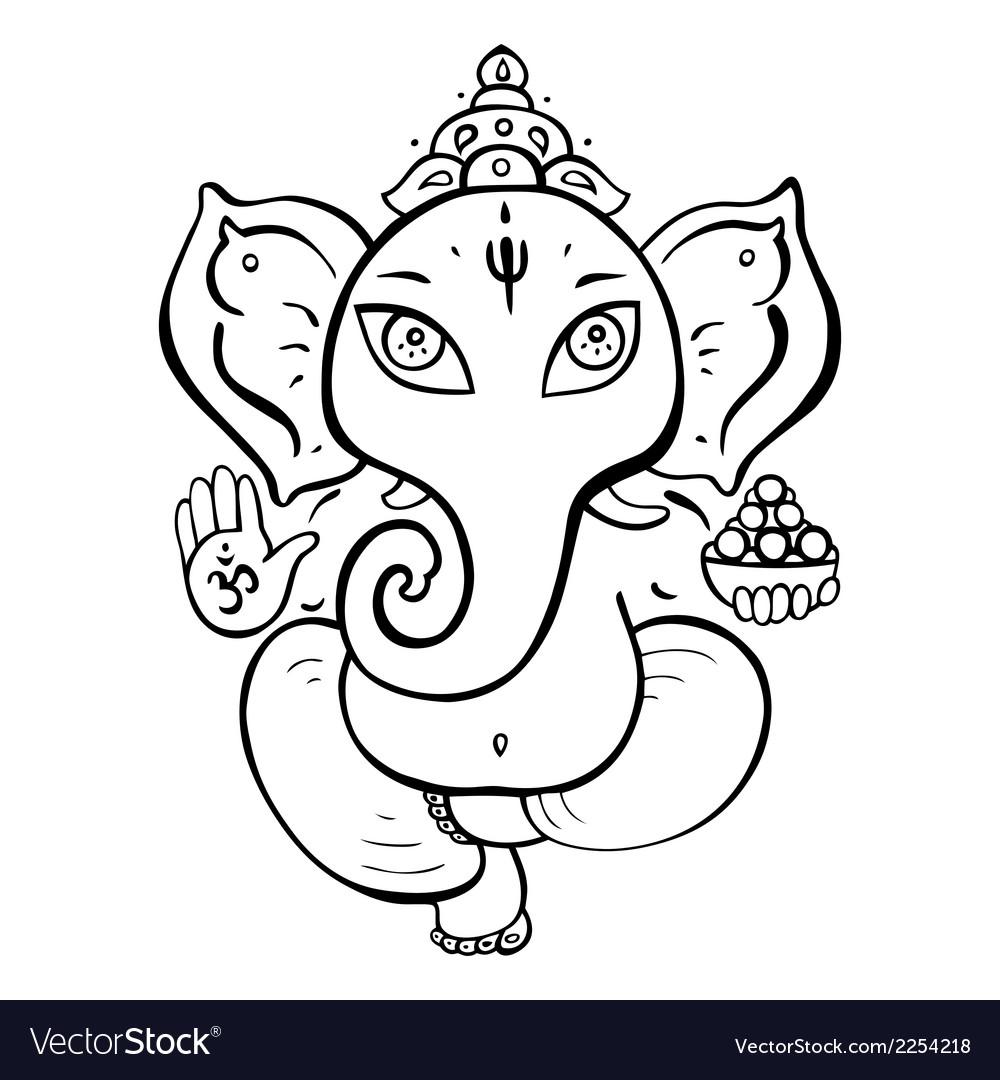Hindu god ganesha vector | Price: 1 Credit (USD $1)