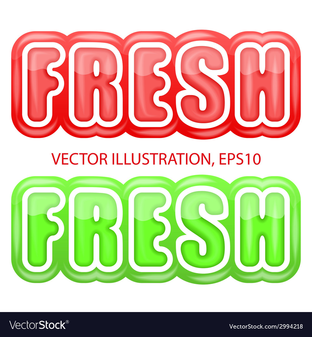 Label with the letters fresh bright premium design vector | Price: 1 Credit (USD $1)
